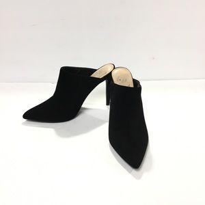 Diba Katina Black Pointy High Heel Mules Size 9